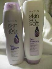 AVON SSS Firm & Restore + Babassu Oil  Body Cleanser & Body Lotion 11.8 oz Each