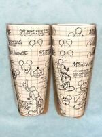 New 8pc DISNEY MICKEY MOUSE SKETCHBOOK ECO-FRIENDLY BAMBOO Tumblers Glasses Cups