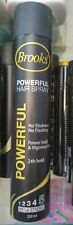 Brooks Powerful Hair Spray   No Stickness No Flacking   24h Mega Hold   250 ML