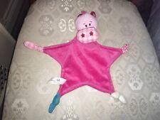 TIAMO BABIES PINK COMFORT BLANKET SNUGGLY SOFT TOY PLUSH VGC