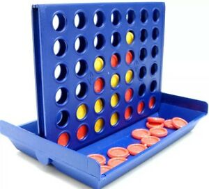 Connect 4 Four Line Up In A Row Line Mini Board Game Family Indoor 2 Player Fun