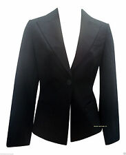 Button Patternless Business Blazers for Women