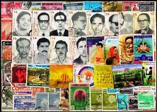 Bangladesh 100 Different Small & Large Used Postage Stamps