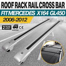Silver Roof Rack For Mercedes Benz X164 GL450 2006-2012 Cross Bar Pair Aluminum
