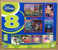 NEW factory sealed 2009 Mega Brand Puzzles Disney characters 8 puzzles 2200 pcs.