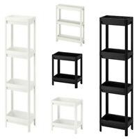 Ikea VESKEN Shelving Unit Bathroom Caddy Storage Trolley Free Standing Shelf