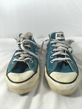 Vintage Converse Sneakers Mens 6 All Star USA Canvas Low Top Chucks Blue