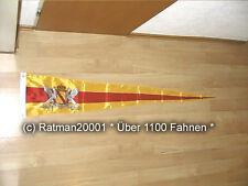 Fahne Flagge Baden Großherzogtum Wimpel Langwimpel Neu - 30 x 150 cm