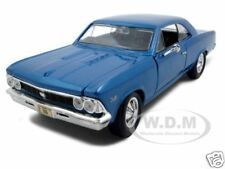 1966 CHEVROLET CHEVELLE SS 396 BLUE 1:24 DIECAST MODEL CAR BY MAISTO 31960