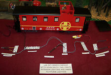 LGB STYLE G SCALE STEEL CABOOSE LIGHTING KIT + HEAD + TAIL LAMPS + INTERRIOR