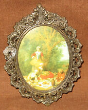 "Vintage Action Frame ""Family enjoying a picnic"" Made in Italy"