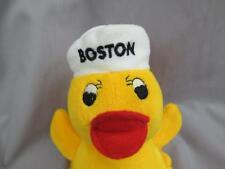 BOSTON YELLOW DUCKY NARDY QUACKS SAILOR HAT RUBBER DUCKY PLUSH STUFFED ANIMAL