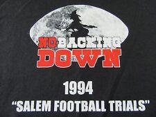 "ADIDAS ""No Backing Down"" 1994 Salem Football Trials T Shirt Size S (NWOT)"