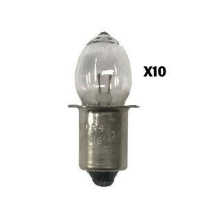 OSRAM/Sylvania: PR4 Miniature Incandescent Bulb - 10 Pack - (Part#: PR4)