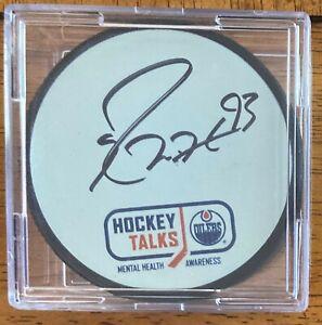 Ryan Nugent Hopkins (Beckett COA)Edmonton Oilers AUTOGRAPHED Mystery Puck!!
