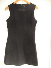 Pepe Jeans Kleid Wolle schwarz Luxus mini neuw L 38 40 60er 70er Jahre retro