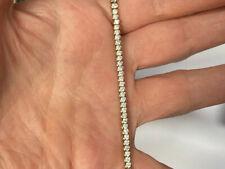 lovely gold on sterling silver cz tennis bracelet