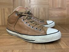 RARE🔥 Converse Chuck Taylor All Star Padded Mid Sneakers Brown Leather Sz 9