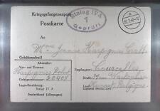 Camp Stalag IV Elsterhorst 1940 POW Prisoner Belgium Kriegsgefangenenpost K1