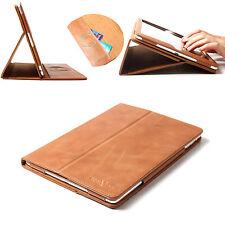 100% Echt Ledertasche Smart Case Leder Hülle für das neue Apple iPad Air Braun