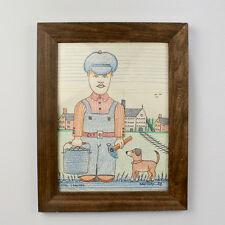 """Vintage Jack Savitsky Pastel Drawing Entitled """"The Coal Cracker"""" - 1988 - 2D"""