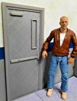 Man Door 1/10 Scale Action Figure Garage Diorama Dollhouse Accessories