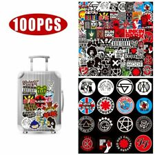 100 Pack Stickers Rock Band Punk Music Heavy Metal Bands Laptop Car Bumper New