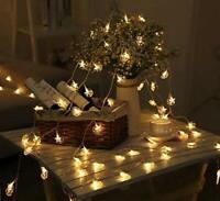 Ramadan Islamic LED String Lights Moon Star Iftar Party Decor 20pc  Warm White
