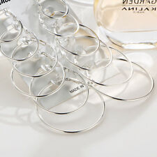 6Pairs/set Vintage Silver Gold Big Circle Hoop Earrings Women Steampunk Ear Clip