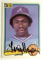 1983 Donruss Terry Harper Auto Autograph Signed Card Braves Tigers Pirates #607