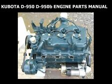 Kubota D950b Tractor Engine Parts Manuals 70pg for D-950 950bbs Service & Repair