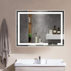 Vanity Lighted Mirror 32x24 Inches LED Large Makeup Dimmable with Touch Sensor,