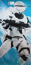 Star Wars Blue Flame Trooper Beach Towel measures 28 x 58 inches