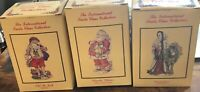 The International Santa Claus Collection-LOT of 3- Figurines AUS, SWITZ, and USA