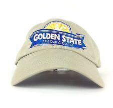 Golden State Feed And Grain Embroidered Tan Baseball Cap Hat Adj Adult Sz Cotton