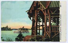 Postal mil 1000 Islas Gazebo Barco De Paleta Rueda de Nueva York New York década de 1900 1909