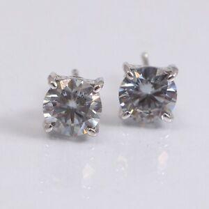 Moissanite Bridal Stud Earrings 925 Sterling Silver Dainty Bohemian Gift for Her