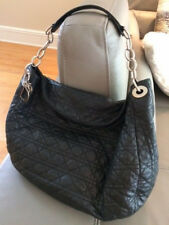 Christian Dior Cannage Large Hobo Bag with Authenticity Card