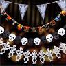 Skull Happy Halloween Hanging Ghost Paper Garland Halloween Props Party Decor