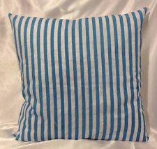 Blue Stripes Cushion Cover - 100% Cotton