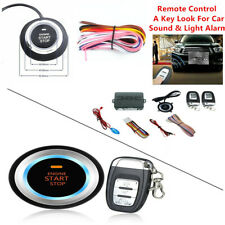 Car SUV Audible Alarm System Security Ignition Push Button Remote Engine Start