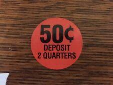 Original 50 Cent 50 Decal Sticker Label Gumball Bulk Vending Machine Oak Nw Aa