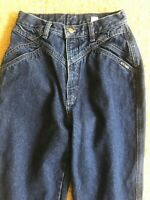 Vtg 90's Women's High Waist Cowgirl MOM Jeans Denim Pleated Front sz 5/6 36 L