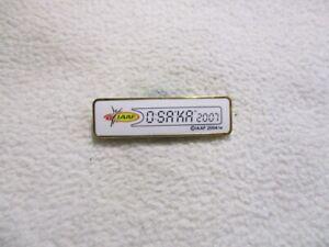 IAAF World Championships Osaka Japan 2007 pin