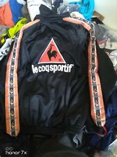 LE COQ SPORTIF TRACKSUIT top IN34/36 or 42/44 inch  MENS £20 BNWL IN BLACK