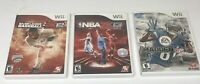 Nintendo Wii Video Game Lot of 3 NBA 2K13, Madden 13, MLB 2K12 All Complete-CIB