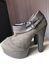 Red Herring Designer Ladies Women High Heel Shoe Platform Ankle Boot Size 5 38