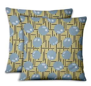 S4Sassy Line & Circle Living Room Cushion cover Decor Pillow Cases 2Pcs-GMD-517J