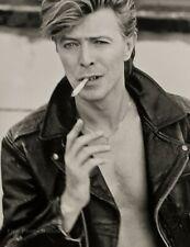 1987 Vintage DAVID BOWIE Singer HERB RITTS Rock Music Cigarette Photo Engraving