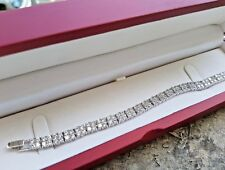 Bracelet Riviera Tennis Bracelet Platinum finish with Created Diamond two Row 3E